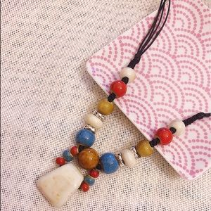 Jewelry - Handmade Artisan Statement Porcelain Necklace
